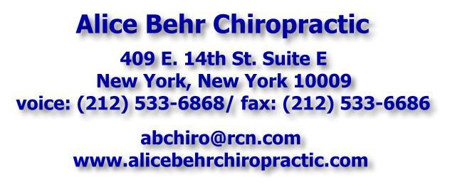 Alice Behr Chiropractic - 202-533-6868
