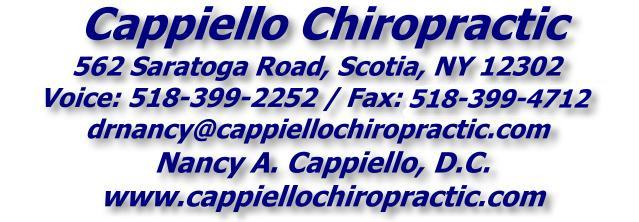 Cappiello Chiropractic - 518-399-2252