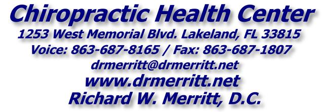 Dr. Richard Merritt - 863-687-8165